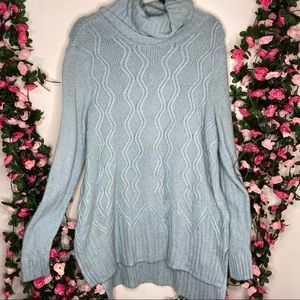 Sonoma Large Mint Green Cable Knit Sweater Womens